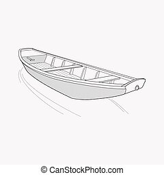 Boat icon line element. Vector illustration of boat icon line isolated on clean background for your web mobile app logo design.