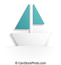 boat icon paper