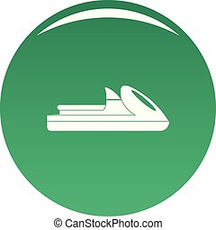 Boat icon vector green