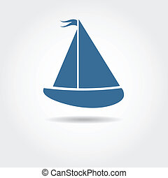 Boat icon. Vector illustration