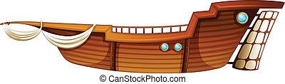 Boat - Illustration of a single boat