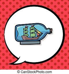 Boat in a Bottle doodle