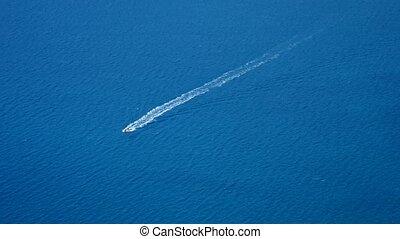 Boat in blue sea laguna background Turkey - Summer landscape...