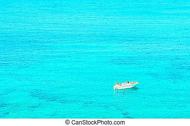 Boat in Capo Testa in Santa Teresa Gallura Sardinia Italy ...