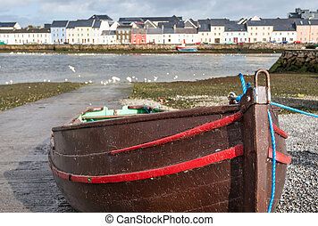 Boat in Claddagh - A colourful boat in the Claddagh, where...