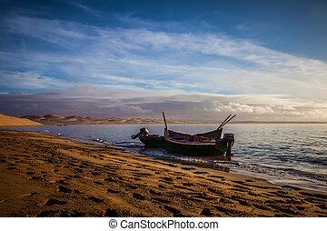 boat in lagoon