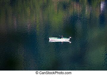 Boat in Lake Como