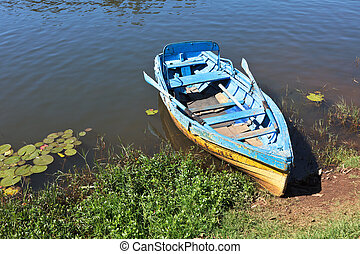 Boat in lake