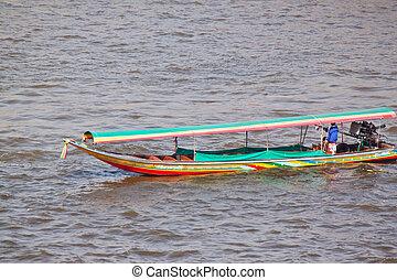 boat in river