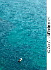 Boat in sea.