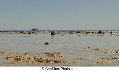 Boat In Sea, Low Tide, Landscape