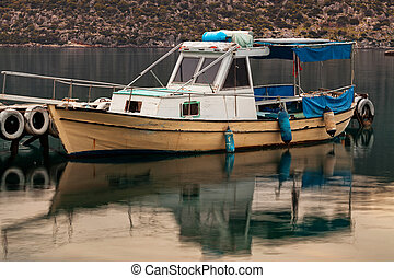 Boat in small fishers village