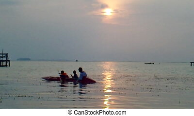 Boat in Sunset - Boat in sunset in Tidung Island, Jakarta,...