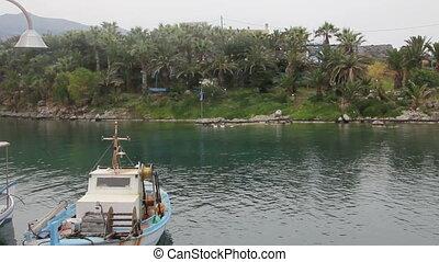 Boat in the bay of Crete