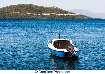Boat in the bay of the Adriatic