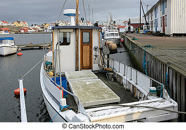Boat in the fishing port