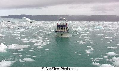 Boat in the fjord
