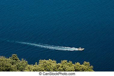 Boat in the mediterranean sea