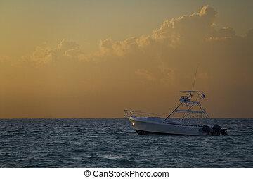 boat in the morning