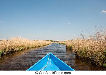 Boat in water landscape