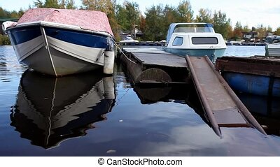 boat is moored