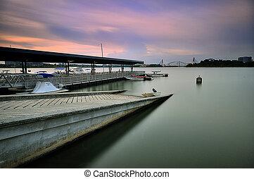 Boat jetty at Marina Putrajaya