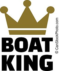 Boat King with crown