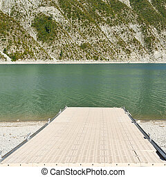 Boat launch ramp in France