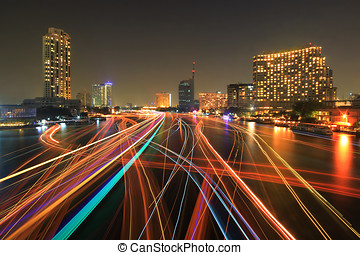 boat light trails