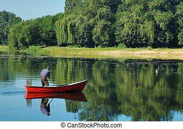 Boat - Man in a boat