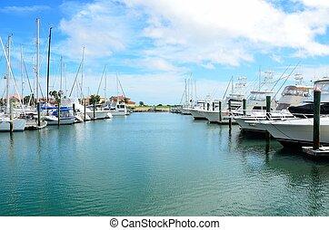Boat Marina - Boat marina on the eastcoast of florida usa