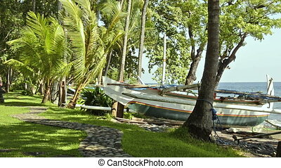 boat of a fisherman in Bali