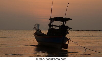 Boat on a background of a beautiful