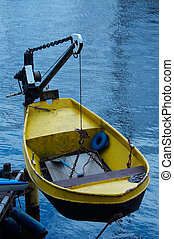 Boat on a crane