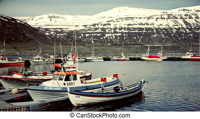Boat on a mooring in Iceland