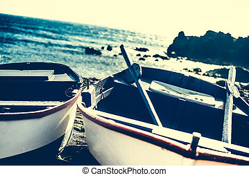 boat on a shore