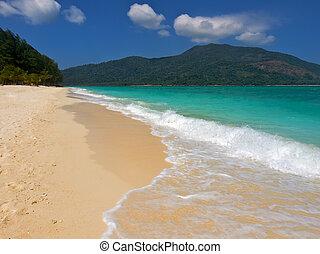 Boat on a tropical beach