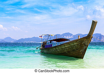 boat on andaman sea in Thailand