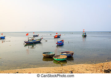 Boat on beach, Ly son island, Quang