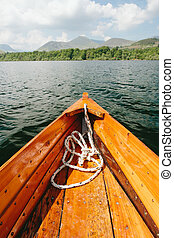 boat on beautiful lake