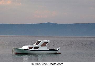 calm sea -  boat on calm sea