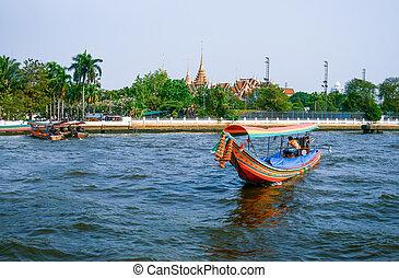 Boat on Chao Phraya river , Bangkok
