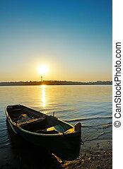 boat on danube