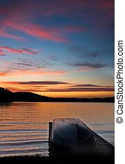 Boat on dock - lake