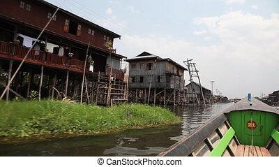 Boat on Inle lake , Myanmar