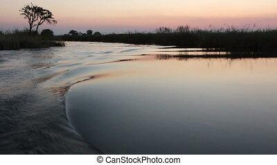 Boat on Kwando river