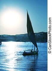 Boat on Nile - boat on the Nile