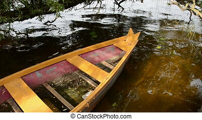 boat on summer lake