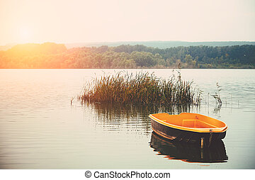 Boat on the lake