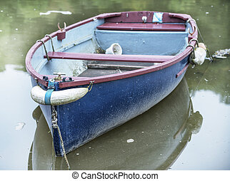 Boat on the River at Lerryn near Lostwithiel in Cornwall